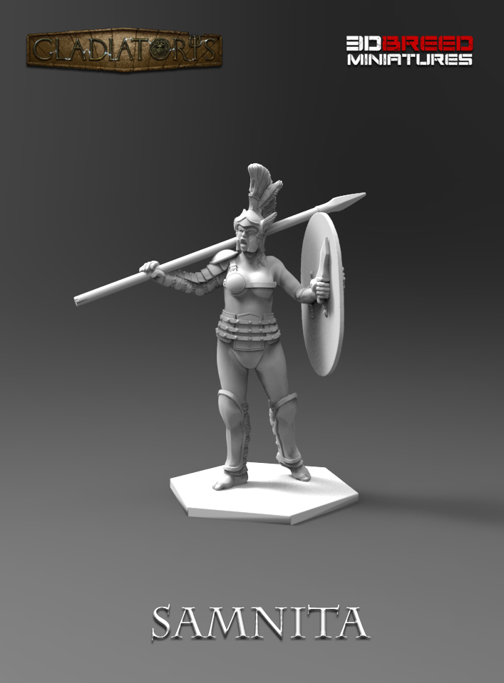 Gladiatoris - 3D Samnita in process
