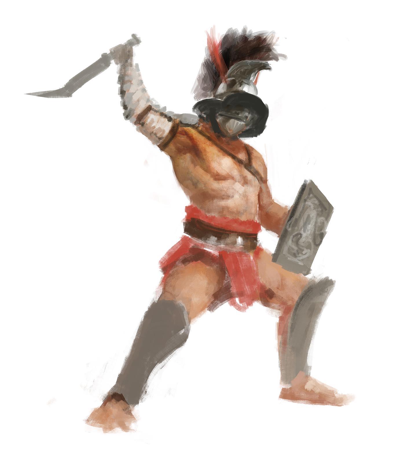 Gladiatoris - Boceto Thraex Manzanedo 2