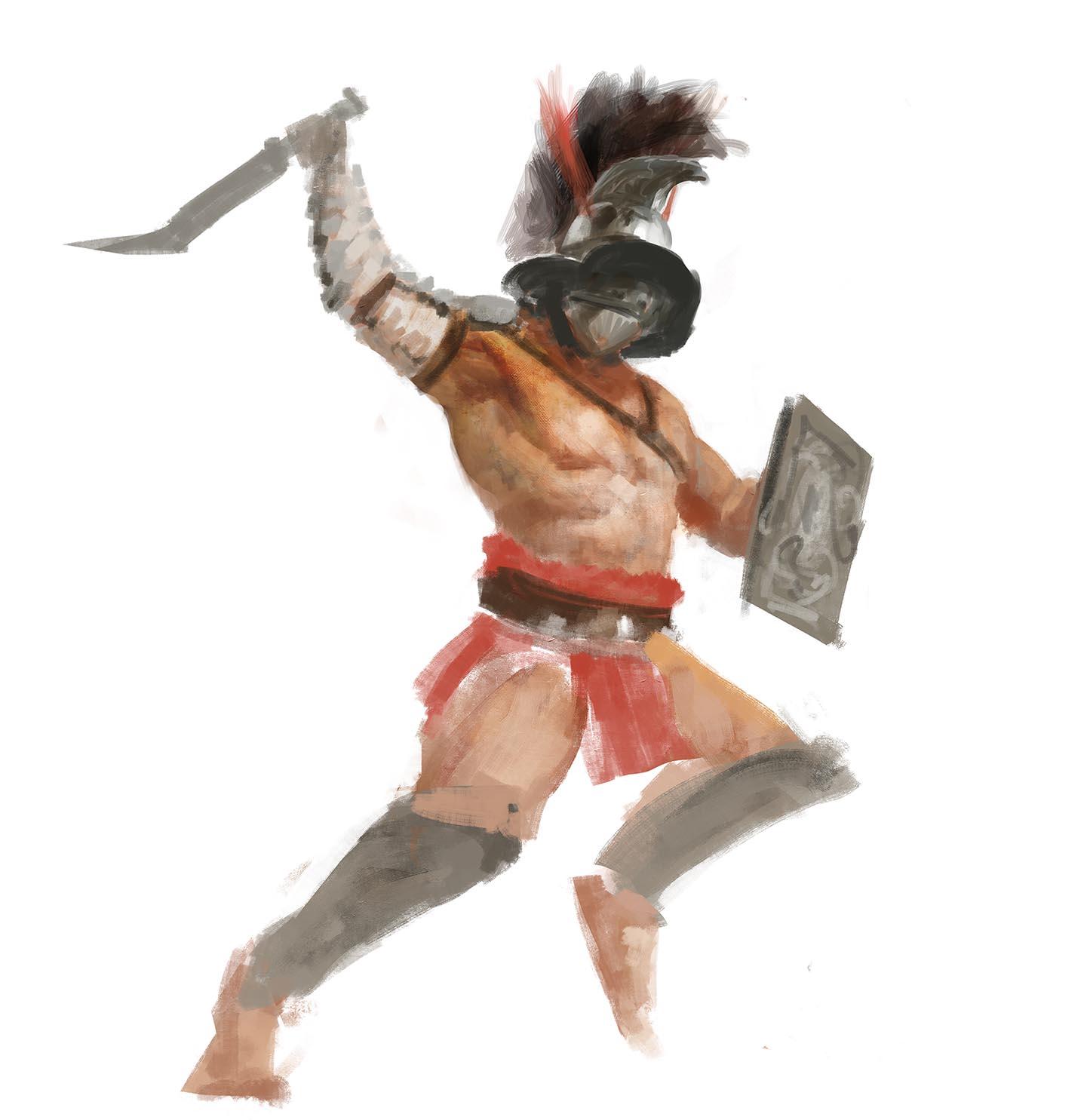 Gladiatoris - Boceto Thraex Manzanedo 3