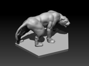 Gladiatoris - Pantera 3D en proceso