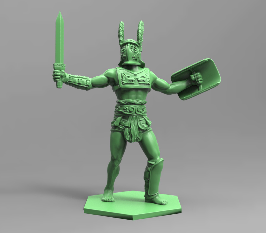 Gladiatoris-Provocator 3D finished