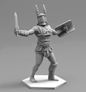 Gladiatoris - Provocator 3D en proceso