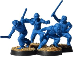 Gladiatoris-slaves blue of the prototype (Warlord Games, modified)