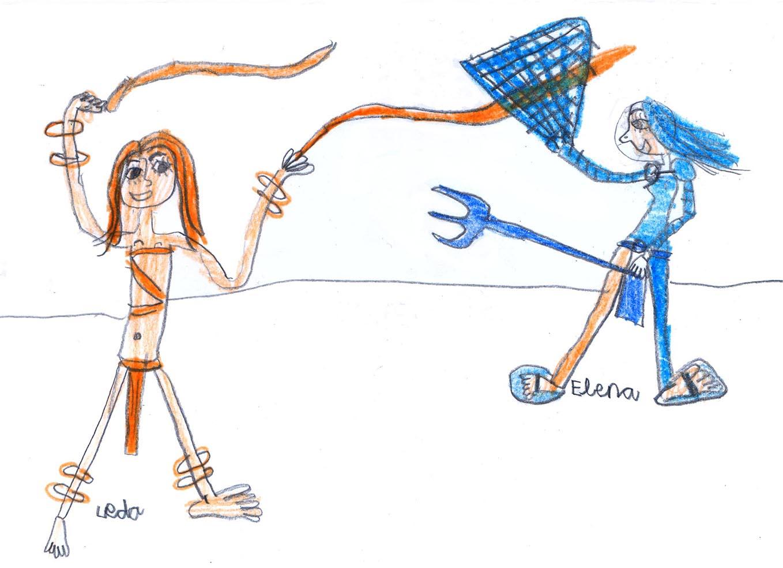 Paegniaria and Retiaria by Leda Temprano