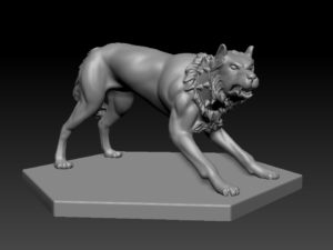 Gladiatoris - Perro de Presa 3D in process