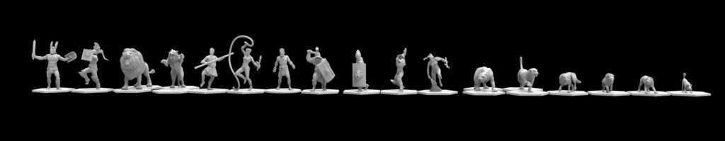 Gladiatoris-proportions of the miniatures