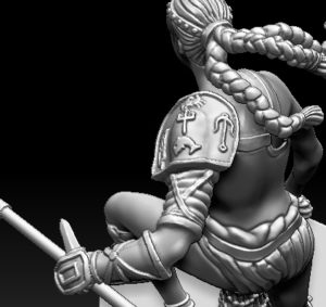 Gladiatoris - Retiaria 3D in process