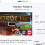 EscenaRYS cancels Gladiatoris KS