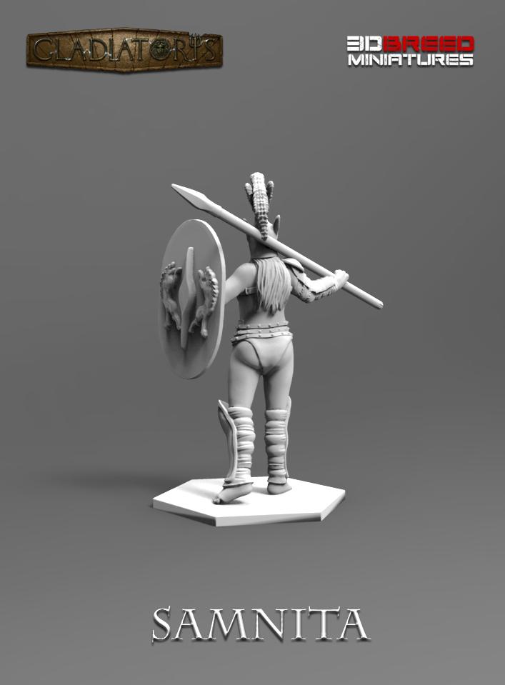 Gladiatoris - Samnita 3D en proceso