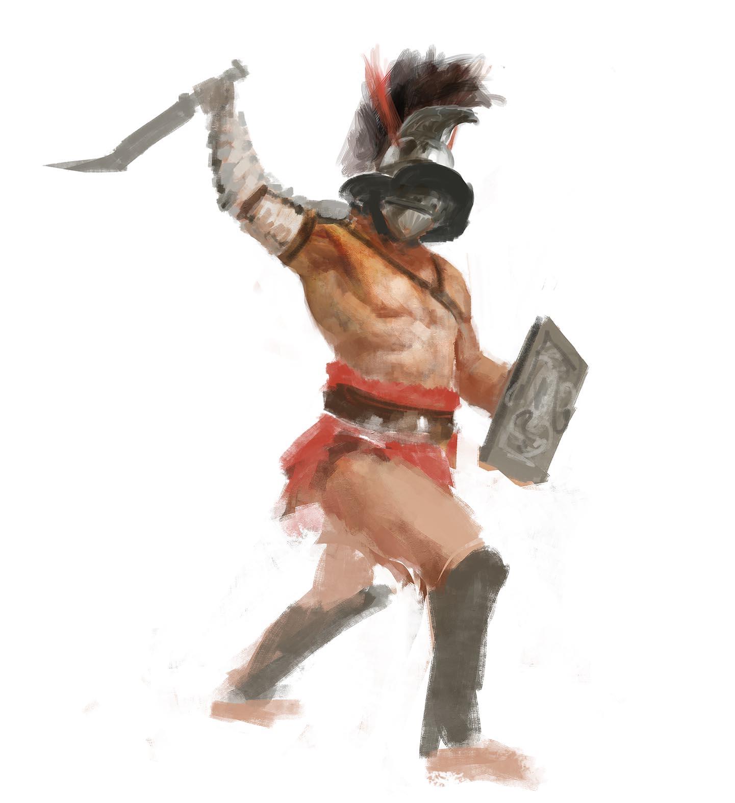 Gladiatoris - Boceto Thraex Manzanedo 1