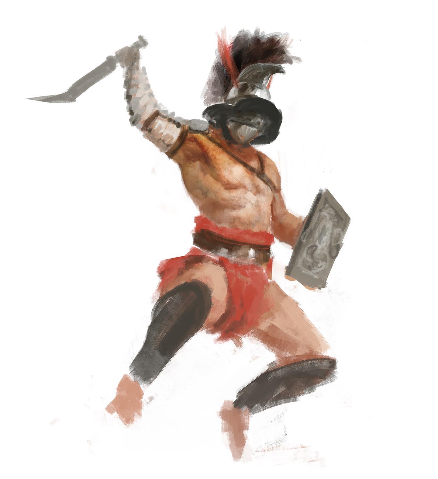 Gladiatoris - Boceto Thraex Manzanedo 4